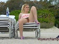 Voyeurchamp.com -Public Upskirt Exhibitionist Wifey Amanda!