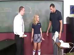 sweet schoolgirl enjoys fucking
