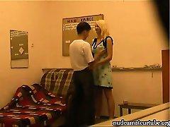 Hidden Cam Records Russian Amateur Couple Home Made Sex