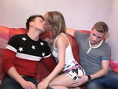 Beautiful girl team-fucked before her bf