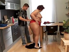 Big Ass BBW In Kitchen