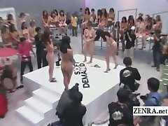 Subtitled crazy Japanese ENF rock paper scissors game