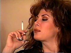 Old School Brunette Smoking Solo