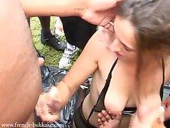 Leona Fell Bukkake Part 1