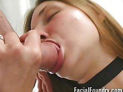 Blowjob and facial cumshot compilation