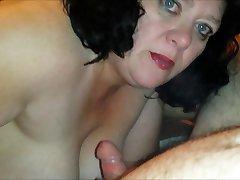 Real HomeMade .. Cum Slut Wife Facials III