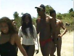 Hairy Ebony Gets Fucked Hard In Camping