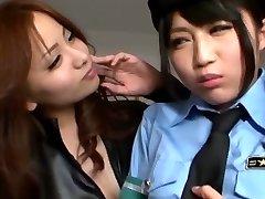 Japanse Lesbische Verleid Officer
