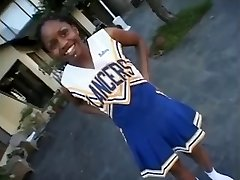 Ebony cheerleader Promise