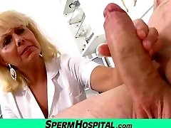 Wicked lady doctor Koko cfnm clinic handjob