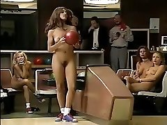 Jacqueline Lovell and other busty honeys go bowling in the bare