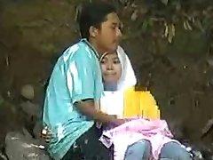 malay-skodeng awek hidžáb, tudung putih romen