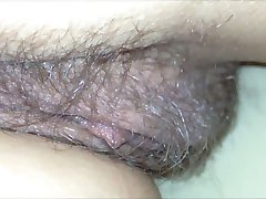 Pussy close-up under the blanket (secretly filmed)