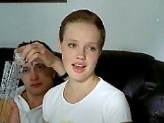 three russian guys deflower crying girl