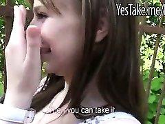 Réel amateur tchèque fille Charlotte Madison baiser pour de l'argent