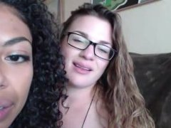 Interracial lesbian couple Sky and Casey