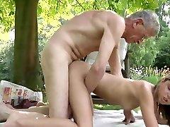 Oldman fucks a young and nasty girl