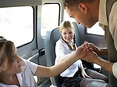 Student in activity on the bus