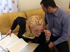 Hot Blonde Tan Nylon Sex (TheNylonLover)