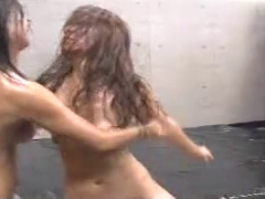 sexy oil wrestling