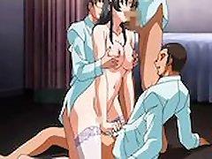 Petite Anime Maid Threesome Cartoon XXX