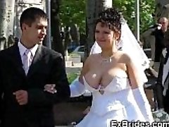 Real Brides Display Their Pussies!