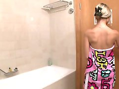 Cute 18Y old teenager Solo in the Bath Room