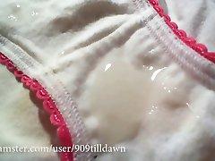cum salpicados de blanco algodón bragas