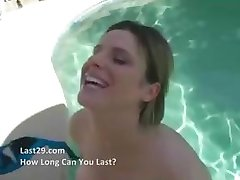 Dude cathes his girlfriend fucking another dude at the pool