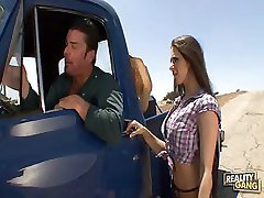 Busty Country Girl Gets Fucked On Pick up Truck