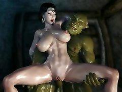 3D Stone Goddess