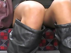Asian upskirt on London Underground