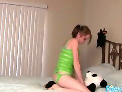 Sexy Teen Having Fun With Her Stuffed Toy