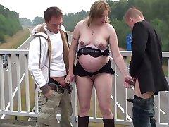 pregnant - bich working Public Nudity