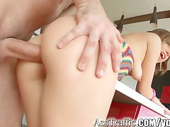 AssTraffic tiny teen does hard anal