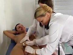 Russian nurse and policewoman take semen sample