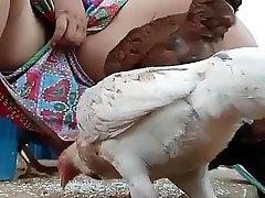 Must observe desi bhabi feeding hen