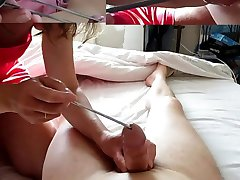 femdom insertion cock large half spoon icecream mistress