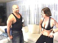 角女の子 wrestles黒コック