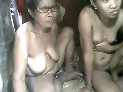 FILIPINO ' OMA ' EN NIET HAAR GRANdaughter ZIEN OP CAM