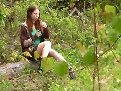 Ginger Emo masturbates with cigar