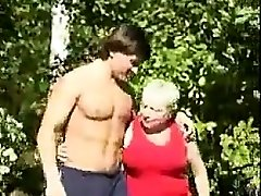 Russian Step Mom Humped Outside