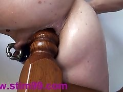 Extreme Anal Ravaging Insertions Fisting self Bedpost & Bat