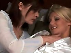 mature girl-on-girl make out with super hot blond