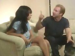 Porsha slapping gagged and drilled by Brandon Iron