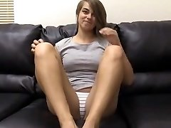 Pretty girl does anal invasion in a casting