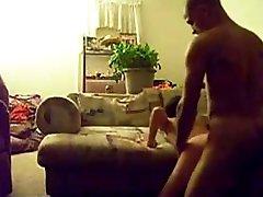 Skinny Teen Screams on Big Cock