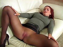 Redhead In Stockings