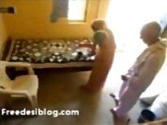 Old Tharki Baba Rubbing his Maid 4m Behind N Seduced N Fuccked