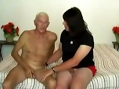 Old Wolf Fucked a Crossdresser Chubby